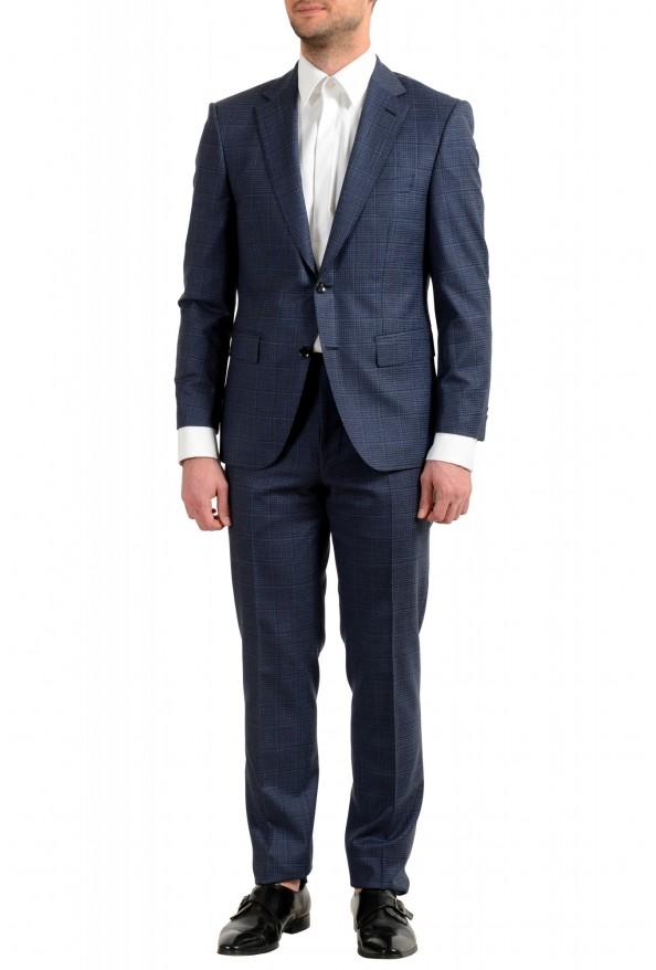 "Hugo Boss Men's ""T-Jarrod/Lone"" Regular Fit 100% Wool Plaid Two Button Suit"