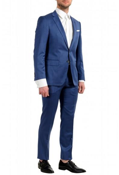 "Hugo Boss Men's ""Hutson5/Gander2"" Slim Fit 100% Wool Blue Two Button Suit: Picture 2"