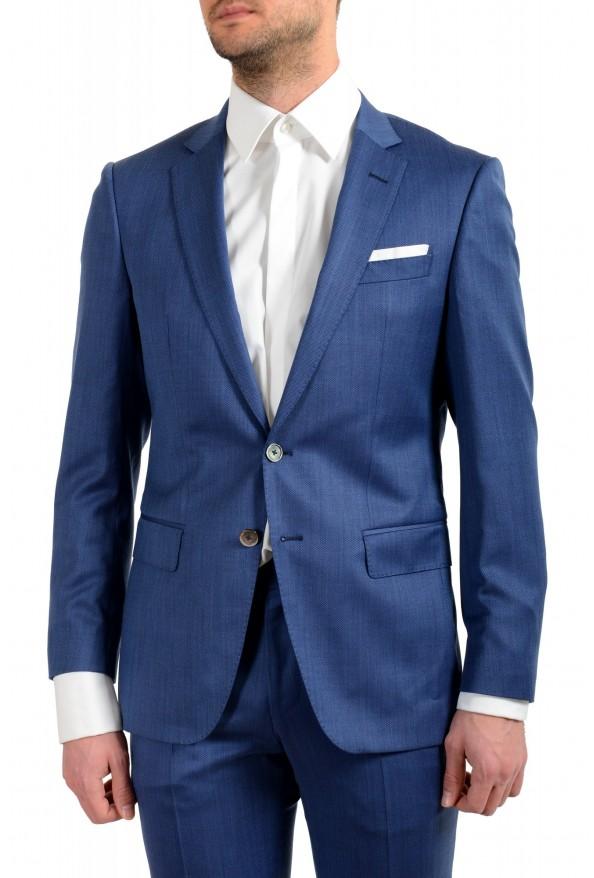 "Hugo Boss Men's ""Hutson5/Gander2"" Slim Fit 100% Wool Blue Two Button Suit: Picture 4"