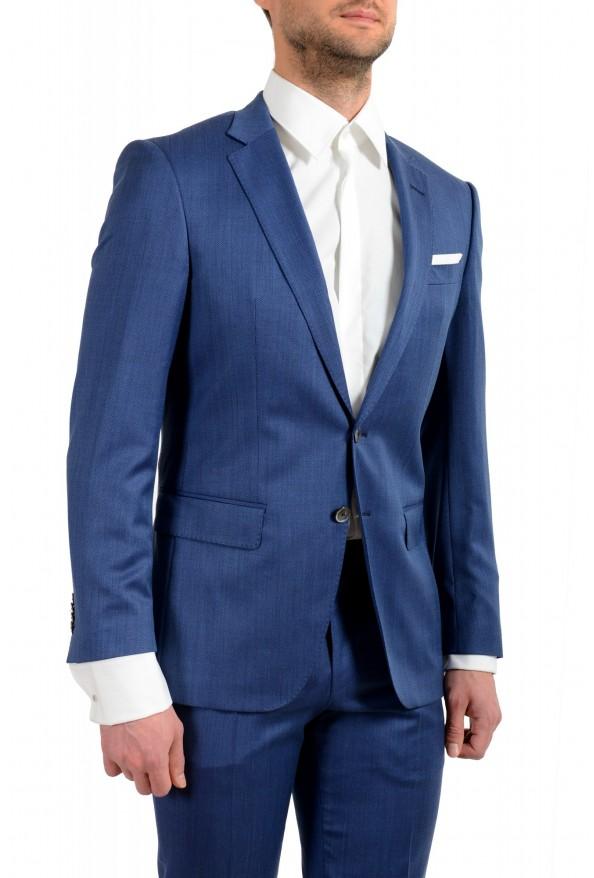 "Hugo Boss Men's ""Hutson5/Gander2"" Slim Fit 100% Wool Blue Two Button Suit: Picture 5"
