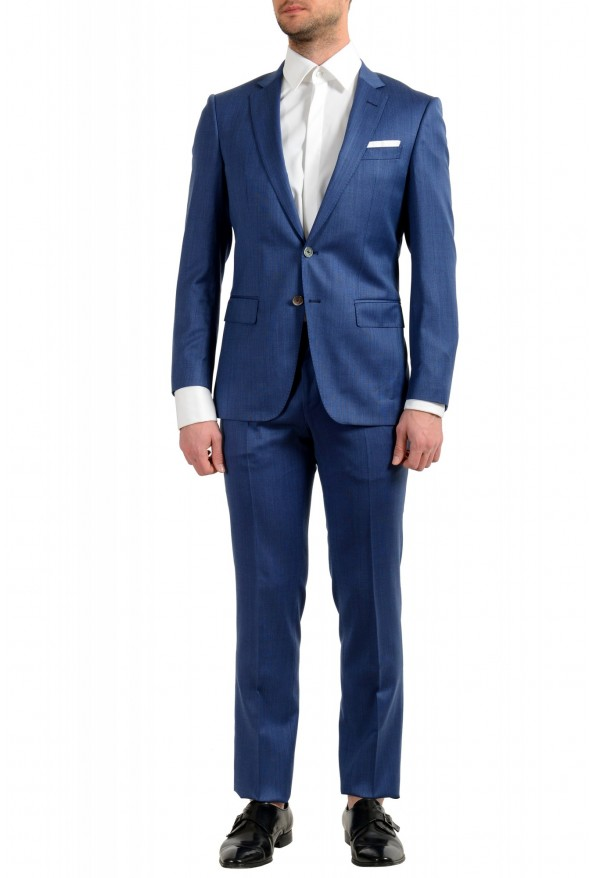 "Hugo Boss Men's ""Hutson5/Gander2"" Slim Fit 100% Wool Blue Two Button Suit"