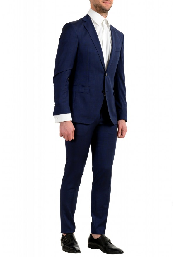 """Hugo Boss Men's """"Reyno4/Wave2"""" Extra Slim Fit 100% Wool Blue Two Button Suit: Picture 2"""