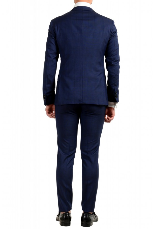 """Hugo Boss Men's """"Reyno4/Wave2"""" Extra Slim Fit 100% Wool Blue Two Button Suit: Picture 3"""