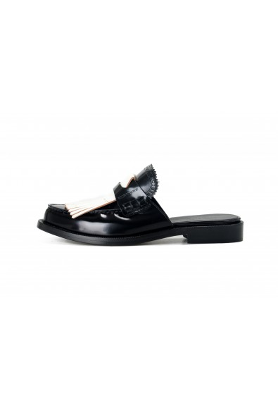 Burberry Women's BECKSHILL Multi-Color Polished Leather Flip Flop Shoes: Picture 2