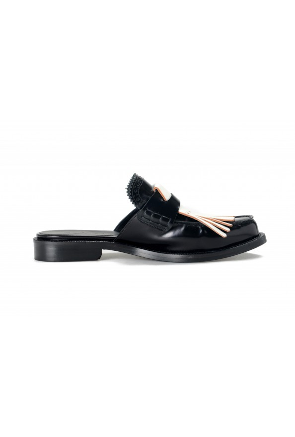 Burberry Women's BECKSHILL Multi-Color Polished Leather Flip Flop Shoes: Picture 4