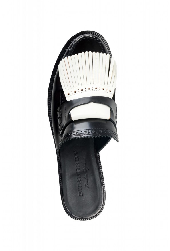 Burberry Women's BECKSHILL Multi-Color Polished Leather Flip Flop Shoes: Picture 7