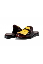 Burberry Women's BECKSHILL Multi-Color Polished Leather Flip Flop Shoes: Picture 8