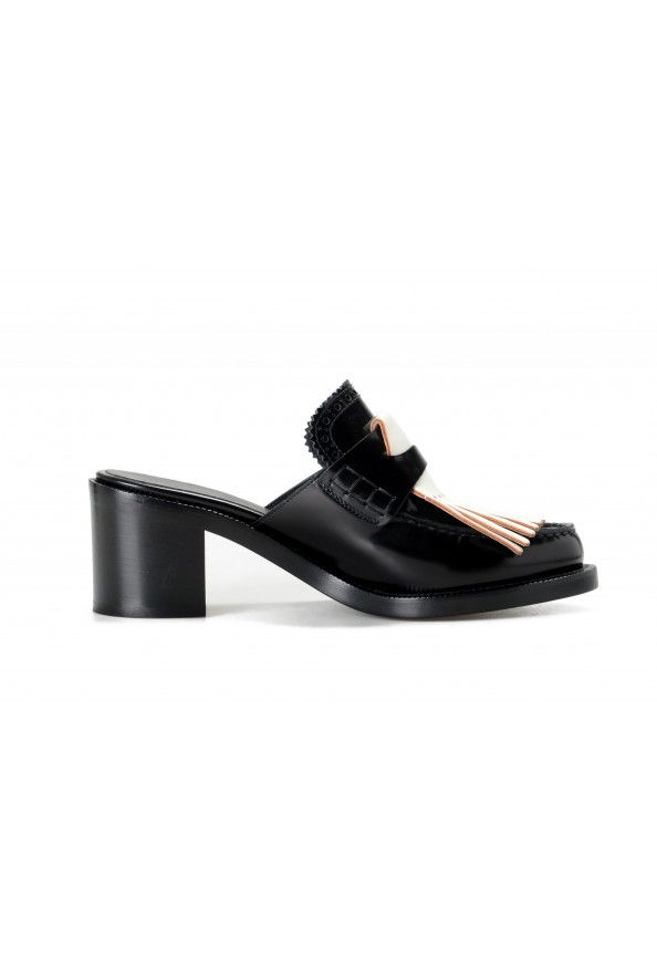 Burberry Women's BECKSHILL Leather Heeled Mules Sandals Shoes: Picture 4