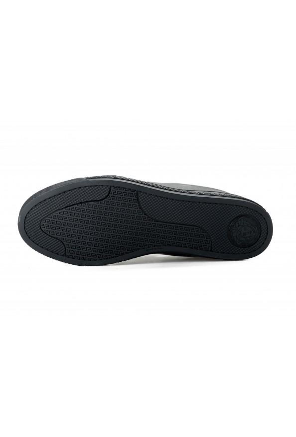 Versace Men's Black Embellished Leather Moccasins Slip On Loafers Shoes: Picture 6