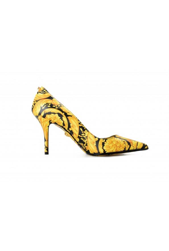 Versace Women's Barocco Print High Heel Pumps Shoes: Picture 4