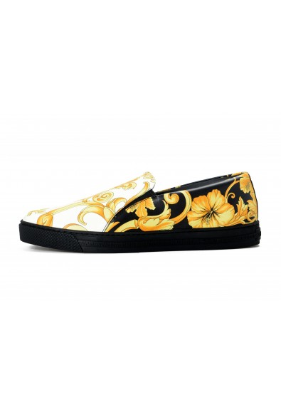 Versace Men's Barocco Print Leather Moccasins Slip On Loafers Shoes: Picture 2