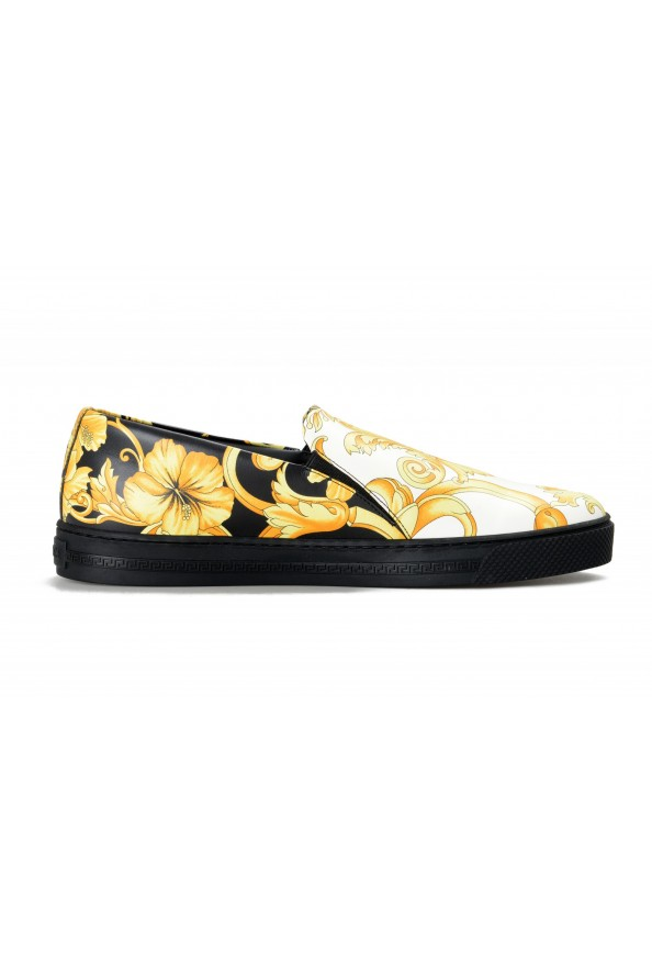 Versace Men's Barocco Print Leather Moccasins Slip On Loafers Shoes: Picture 4