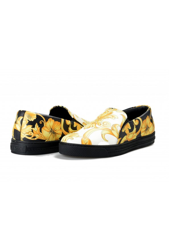 Versace Men's Barocco Print Leather Moccasins Slip On Loafers Shoes: Picture 8