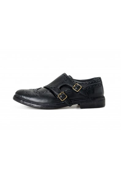 Burberry Women's DELMAR Black Leather Loafers Slip On Shoes: Picture 2