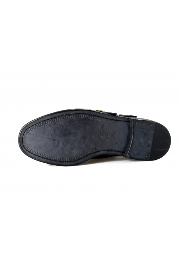 Burberry Women's DELMAR Black Leather Loafers Slip On Shoes: Picture 6