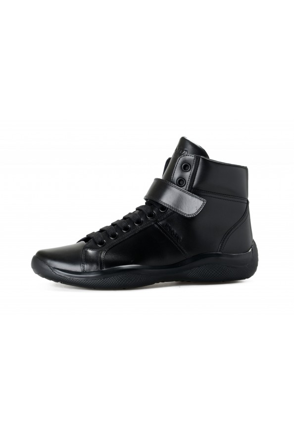 """Prada Men's """"4T2789"""" Black Leather Ankle Boots Shoes: Picture 2"""