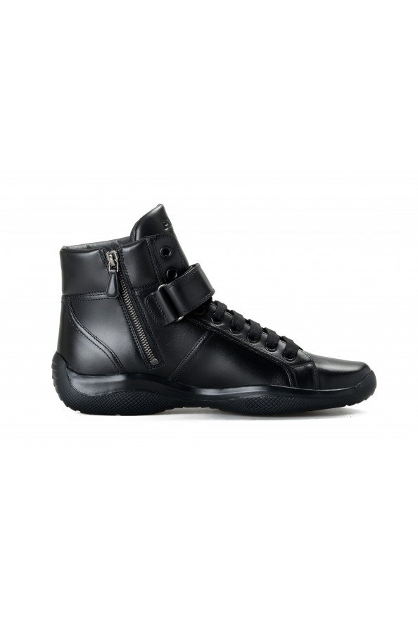 """Prada Men's """"4T2789"""" Black Leather Ankle Boots Shoes: Picture 4"""