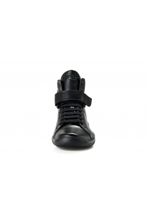 """Prada Men's """"4T2789"""" Black Leather Ankle Boots Shoes: Picture 5"""