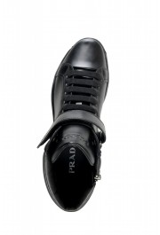 """Prada Men's """"4T2789"""" Black Leather Ankle Boots Shoes: Picture 7"""