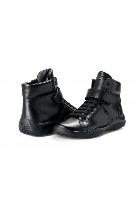 """Prada Men's """"4T2789"""" Black Leather Ankle Boots Shoes: Picture 8"""