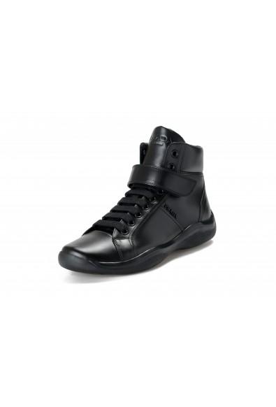"Prada Men's ""4T2789"" Black Leather Ankle Boots Shoes"