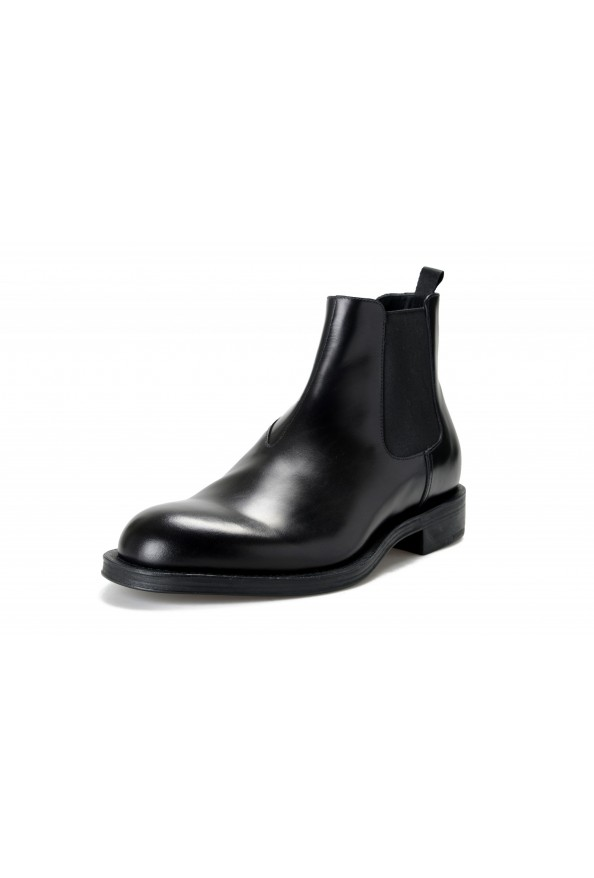 "Prada Men's ""2TC056"" Black Leather Chelsea Ankle Boots Shoes"