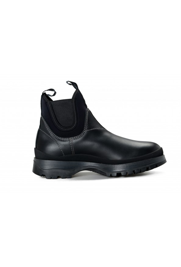 """Prada Men's """"4T3338"""" Black Leather Chelsea Ankle Boots Shoes: Picture 4"""