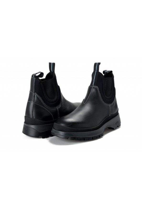 """Prada Men's """"4T3338"""" Black Leather Chelsea Ankle Boots Shoes: Picture 8"""