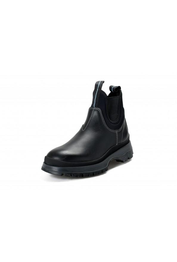 "Prada Men's ""4T3338"" Black Leather Chelsea Ankle Boots Shoes"