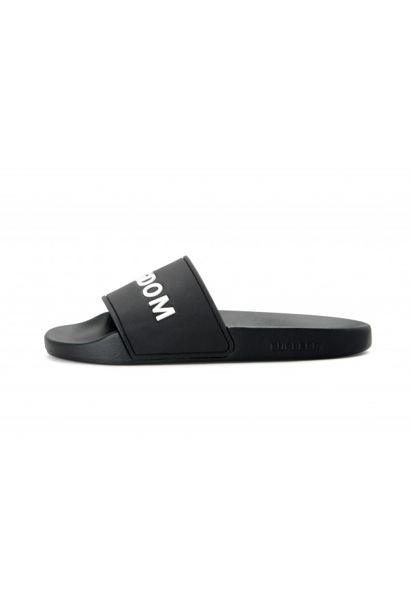 Burberry Women's FYRLEY Black LOGO PRINT Rubber Flip Flop Shoes: Picture 2