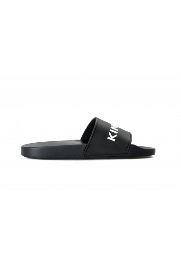 Burberry Women's FYRLEY Black LOGO PRINT Rubber Flip Flop Shoes: Picture 4