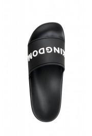 Burberry Women's FYRLEY Black LOGO PRINT Rubber Flip Flop Shoes: Picture 7