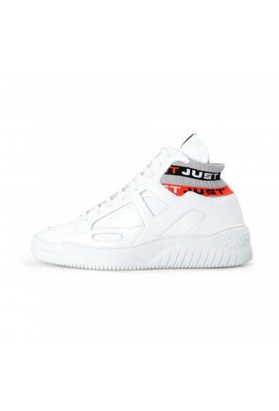 Just Cavalli Men's White Leather High Top Fashion Sneakers Shoes: Picture 2
