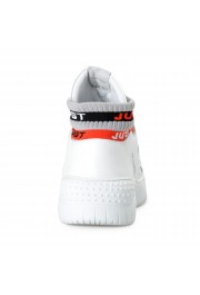 Just Cavalli Men's White Leather High Top Fashion Sneakers Shoes: Picture 3