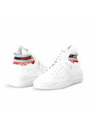 Just Cavalli Men's White Leather High Top Fashion Sneakers Shoes: Picture 8