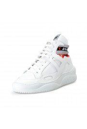 Just Cavalli Men's White Leather High Top Fashion Sneakers Shoes