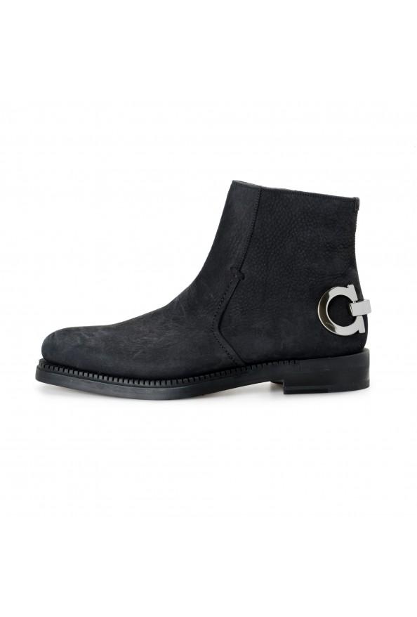"Salvatore Ferragamo Men's ""Bankley"" Black Nubuck Leather Ankle Boots Shoes: Picture 2"