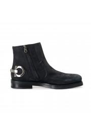 "Salvatore Ferragamo Men's ""Bankley"" Black Nubuck Leather Ankle Boots Shoes: Picture 4"