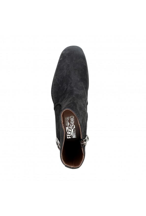 "Salvatore Ferragamo Men's ""Bankley"" Black Nubuck Leather Ankle Boots Shoes: Picture 7"