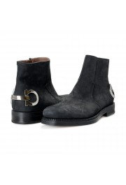 "Salvatore Ferragamo Men's ""Bankley"" Black Nubuck Leather Ankle Boots Shoes: Picture 8"