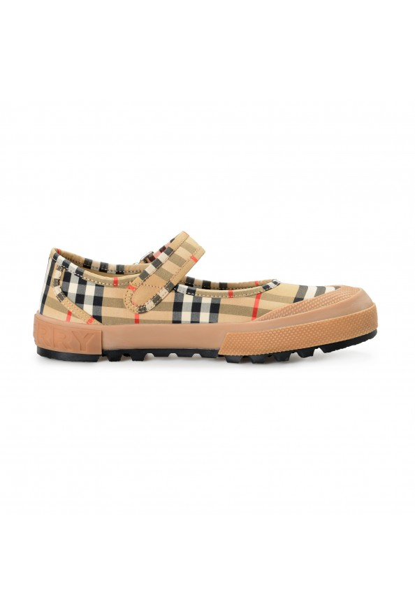Burberry Women's ELSTEAD Multi-Color Plaid Flat Mary Jane Shoes: Picture 4