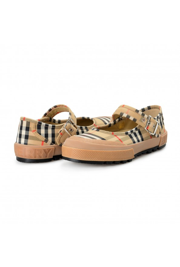 Burberry Women's ELSTEAD Multi-Color Plaid Flat Mary Jane Shoes: Picture 8