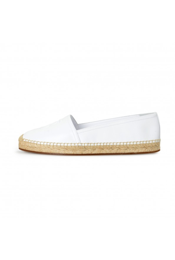 """Burberry Women's """"TABITHA"""" White Leather Slip On Loafers Shoes: Picture 2"""