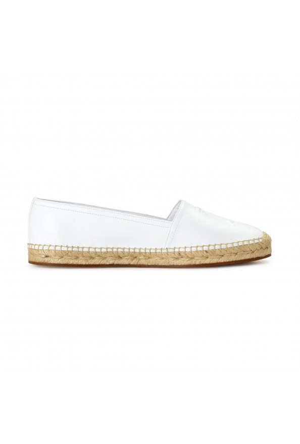 """Burberry Women's """"TABITHA"""" White Leather Slip On Loafers Shoes: Picture 4"""