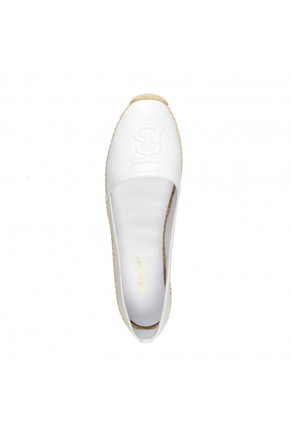 """Burberry Women's """"TABITHA"""" White Leather Slip On Loafers Shoes: Picture 7"""