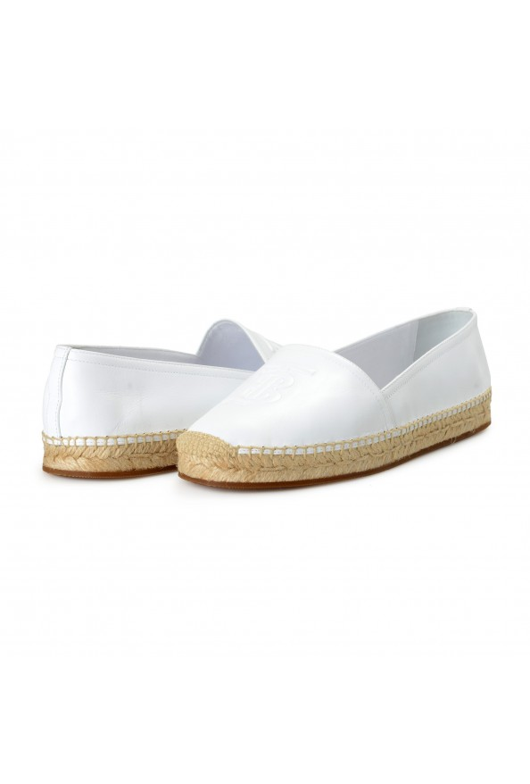 """Burberry Women's """"TABITHA"""" White Leather Slip On Loafers Shoes: Picture 8"""