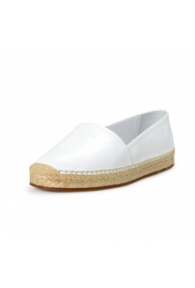 """Burberry Women's """"TABITHA"""" White Leather Slip On Loafers Shoes"""