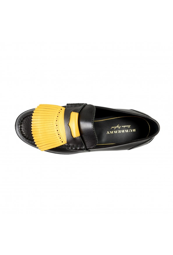 """Burberry Men's """"BEDMOORE"""" Black Leather Loafers Slip On Shoes: Picture 7"""