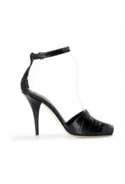 "Burberry Women's ""CITY"" Black Croc Print Leather High Heel Pumps Shoes: Picture 4"