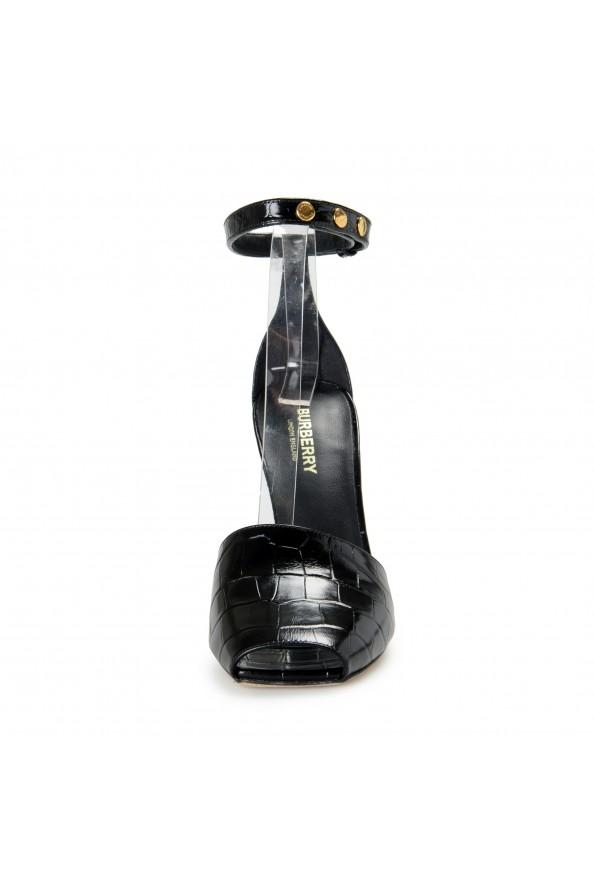"Burberry Women's ""CITY"" Black Croc Print Leather High Heel Pumps Shoes: Picture 5"